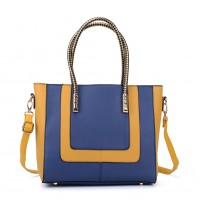 VK2083 Blue - Contrast Large Tote Bag