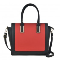 VK2086 Red - Women Fashion Contrast Tote Bag