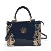VK2088 Blue - Women Large Tote Bag With Floral