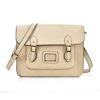 VK2093 Beige - Cambridge Style Satchel Messenger Bag
