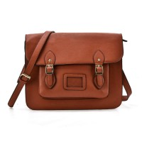 VK2093 Brown - Cambridge Style Satchel Messenger Bag