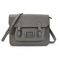 VK2093 Grey - Cambridge Style Satchel Messenger Bag