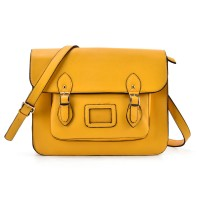 VK2093 Yellow - Cambridge Style Satchel Messenger Bag