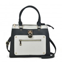 VK2094 Black&White Assort - Front Zip Detail Tote Bag