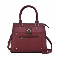 VK2094 Purplish Red - Front Zip Detail Tote Bag