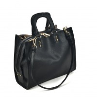 VK2099 Black - Lady Structured Tote Bag