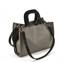 VK2099 Grey - Lady Structured Tote Bag