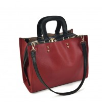 VK2099 Red - Lady Structured Tote Bag