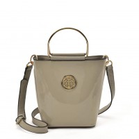 VK2108 Light Grey - Women Tote Bag With Metal Handle