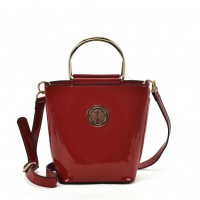 VK2108 Red - Women Tote Bag With Metal Handle