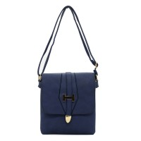 VK5018-1 Blue - Fashion Solid Hasp Envelope Crossbody Bags