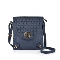 VK5025-1 Blue - Fashion Patchwork Hollow Out Envelope Crossbody Bags