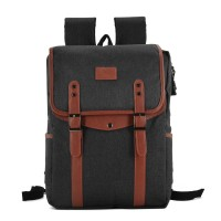 VK5044-1 Black - Simple Hike Flap Backpacks