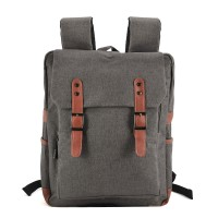 VK5045-1 Dark grey - Simple Solid Flap Square Backpack
