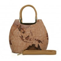 VK5111 Brown - Fashion Women Map Pattern Hangbag