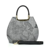 VK5111 Grey - Fashion Women Map Pattern Hangbag