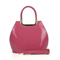 VK5112 Fushia - Fashion Women Smooth Solid Hangbag