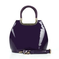 VK5112 Purple - Fashion Women Smooth Solid Hangbag