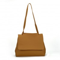 VK5117 Yellow - Fashion Women Smooth Solid Soft Shoulder Bag