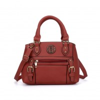 VK5135 Orange - Fashion Women Metal Decoration HandBags