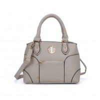 VK5140 Grey - Metal Sheets Decoration Solid Women HandBags
