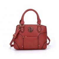 VK5140 Orange - Metal Sheets Decoration Solid Women HandBags