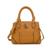 VK5140 Yellow - Metal Sheets Decoration Solid Women HandBags