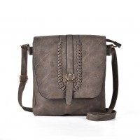 VK5148 Taupe - Women Casual Solid Handbag