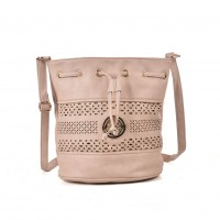VK5150 Apricot - Hollow Pattern Fashion Women Soft Handbag