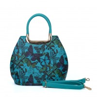 VK5186-1 Blue - Butterfly Pattern Fashion Women Handbag