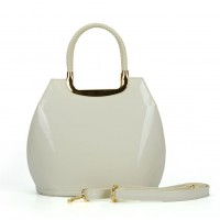 VK5187 White - Smooth Solid Women Zipper Handbags