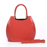 VK5187 Watermelon red - Smooth Solid Women Zipper Handbags