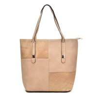 VK5192 Apricot - Crocodile Cutabout Large Tote Bag
