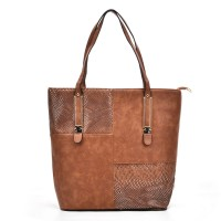 VK5192 Earth Yellow - Crocodile Cutabout Large Tote Bag