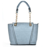 VK5194 Blue - Simple Lady Chain Handle Tote Bag