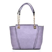 VK5194 Purple - Simple Lady Chain Handle Tote Bag