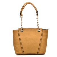 VK5194 Yellow - Simple Lady Chain Handle Tote Bag