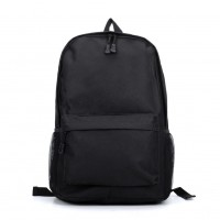 VK5204 Black - Classic Padded Canvas Daypack Backpack