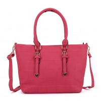 VK5221 Fushia - New Lady Large Quilted Tote Bag