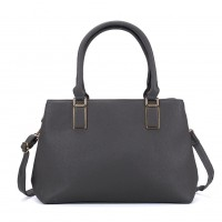 VK5223 Dark Grey - Women Tote Bag With Bowknot