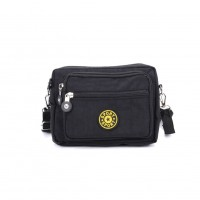 VK5254-1 Black - Women Casual Solid Portable Crossbody Bags