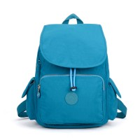 VK5256 Green - Nelon Drawstring Backpack With Front Pocket