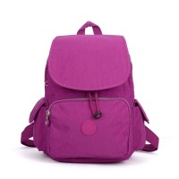 VK5256 Purple - Nelon Drawstring Backpack With Front Pocket