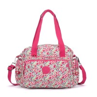 VK5257 A - Lady Large Floral Holdall Cross Body Bag