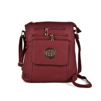 VK5272 Red - Zip Front Cross Body Bag With Shoulder Strap