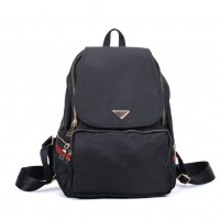 VK5276A Black - Casual Solid School Bag Student Backpack