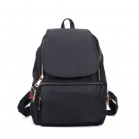 VK5276 Black - Casual Solid School Bag Student Backpack