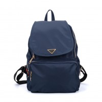 VK5276 Blue - Casual Solid School Bag Student Backpack