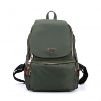 VK5276 Green - Casual Solid School Bag Student Backpack
