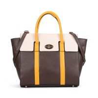 VK5316 Yellow - Oversized Lock Winged Tote Bag